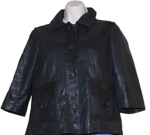 DOMA black Leather Jacket