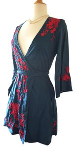 Lucca short dress Blue Wrap Red Wraparound Wrap Around on Tradesy