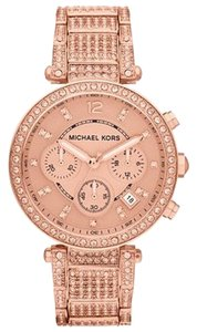 Michael Kors NWT Michael Kors Chronograph Parker Rose Gold-Tone Watch MK5663