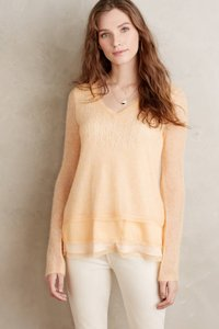 Anthropologie Anthro Sweater Alpaca Top Orange
