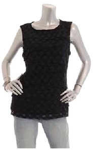 Alfani Tiered Polka Dot Plus-size Top Black