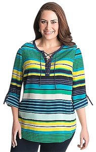 Lane Bryant Lace Up Tab Sleeve Plus-size Tunic