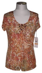 Brielle Blvd Top Brown Multicolor