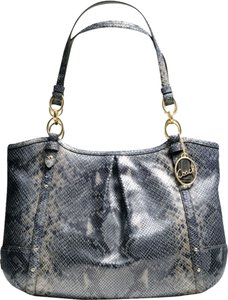 Coach Grey Leather Purse Gray Shoulder Bag