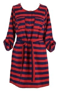 Gap short dress Red & Navy Stripe Shirt Natical Plus-size on Tradesy