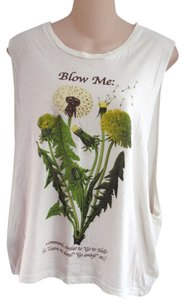 Truly Madly Deeply Urban Outfitters M Cotton Flower Funny Knit Raw Cut Graphic Top