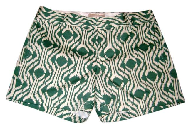 Item - Ikat Print Green and Ivory Shorts Size 6 (S, 28)