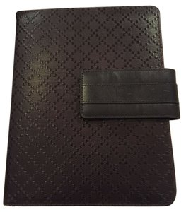 Gucci GUCCI Dark Brown Leather Diamante Ipad Cover Case