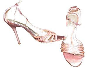 Gomax Embellished Strappy Pink Pumps