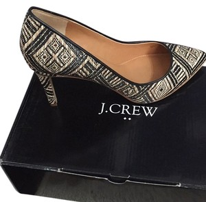 J.Crew Black / Natural Pumps