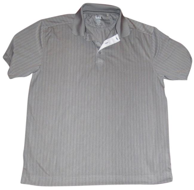 Cutter & Buck Men's Polo Golf Athletic Sport Moisture-wicking Collared Men's Large T Shirt gray