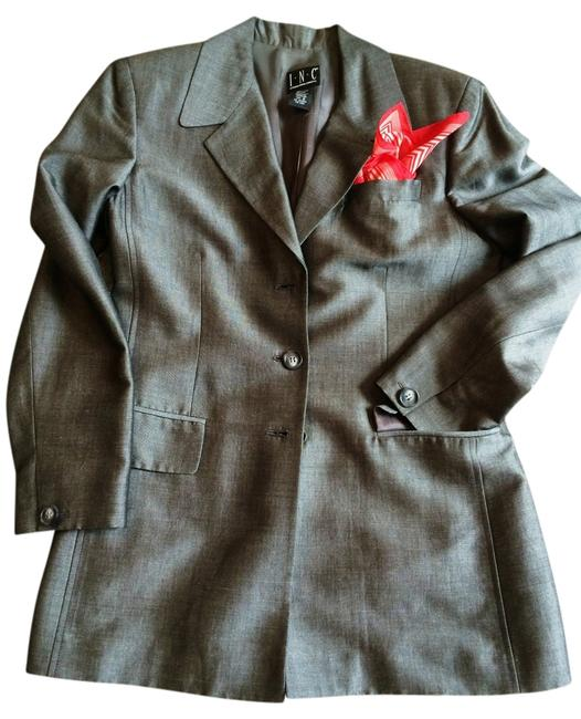 INC International Concepts Shark Skin/Silver Grey Blazer