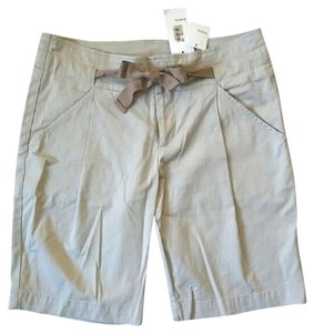 Vince Pleated Beige Tan Bermuda Shorts Khaki
