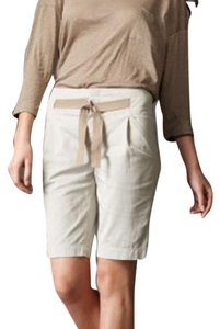 Vince Pleated Tan Beige Bermuda Shorts Khaki