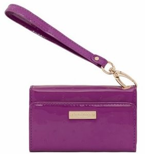 Kate Spade Kate Spade Purple Wristlet with Coral interior card holders iPhone 3g 4/4S