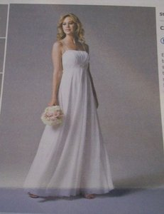 David's Bridal Br1007 Chiffon Empire Dress - Beautiful!! Wedding Dress