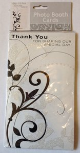 Michaels White/Black Photo Booth Thank You Cards
