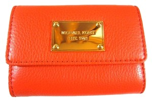 Michael Kors Michael Kors MK leather Coin Purse Wallet card case key purse orange