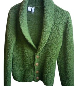 twiggy LONDON Funky Soft Comfortable Buttons Warm Like New Medium Large Green Jacket