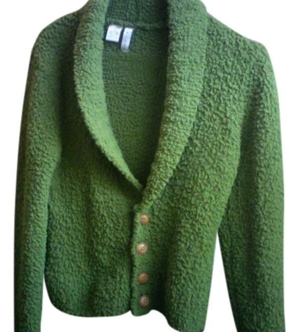 Item - Green Funky Soft Comfortable Buttons Warm Like New Medium Large Jacket Size 12 (L)
