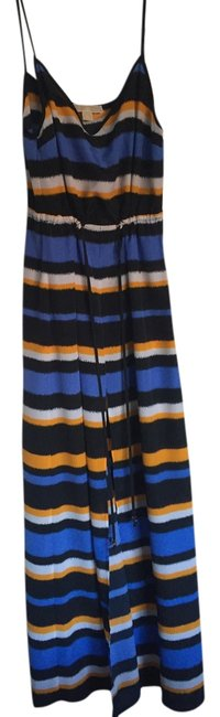 Item - Blue/Yellow/White Long Casual Maxi Dress Size 4 (S)