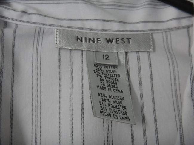 Nine West Button Down Shirt White stripes