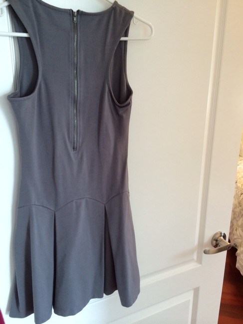 Devlin short dress Gray Cute Flirty Skater Concert Dance Pleated Pleated Nordstroms Edgy Exposed Zipper Fit And Flare Flared Flare on Tradesy