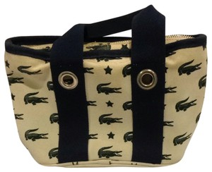 Lacoste Tote in Cream, Navy, DK Green