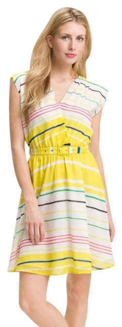 Preload https://img-static.tradesy.com/item/866993/presley-skye-yellow-sloane-belted-above-knee-short-casual-dress-size-0-xs-0-0-650-650.jpg