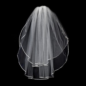 Free Shipping/ 2 Layer White Wedding Veil