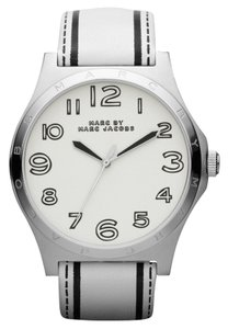 Marc Jacobs Marc Jacobs MBM1230 Women White and Black Leather Strap Watch