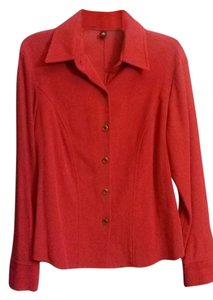 Ellen Tracy Button Down Shirt Red