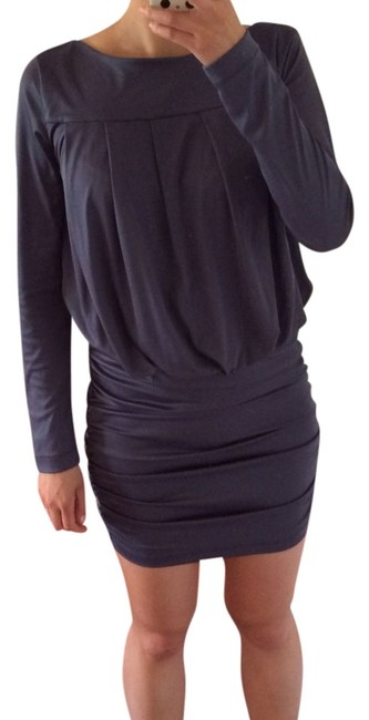 Rachel Roy Longsleeve Party Vegas Draped Ruching Bodycon Sleeves Dress