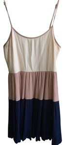 Lulu*s short dress colorblock navy, beige, and cream on Tradesy