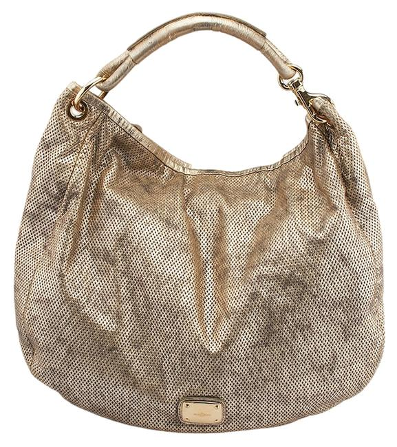 Item - Grey Perforate (62981) Silver Leather Hobo Bag