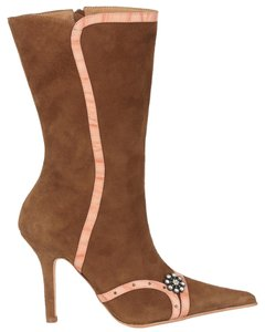 MS Shoe Designs Dark Tan Boots