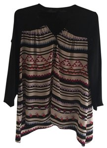 BCBGMAXAZRIA Wear To Work Top Black Multi