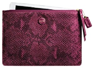 Coach Coach Large Snakeskin Magenta Pouch