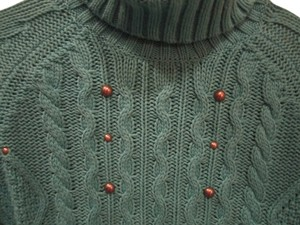 Relativity Chunky Cable Knit Turtleneck Sweater