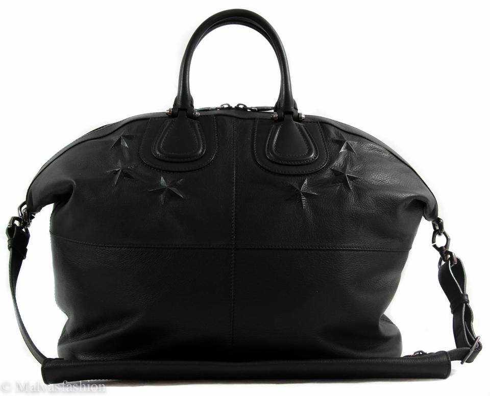 50c3ad4c29 Givenchy Men's Embossed Star Nightingale Black Leather Weekend/Travel Bag