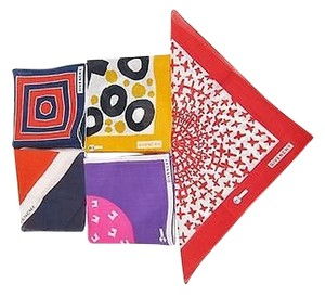 Givenchy Lot Of Givenchy Linen Pocket 14.5 Squares Scarf Handkerchiefs