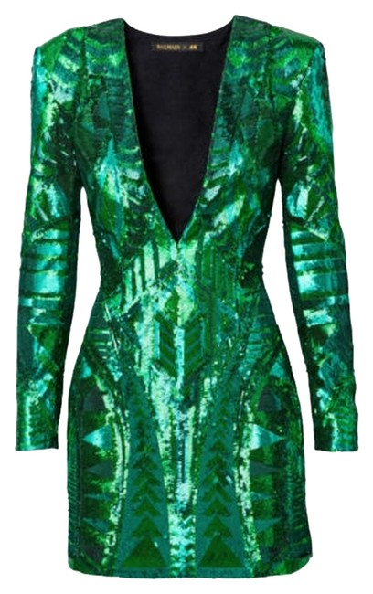 Item - Green Above Knee Cocktail Dress Size 4 (S)