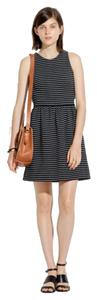 Madewell short dress Blac Striped on Tradesy