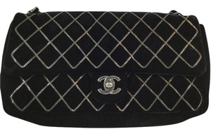 Chanel Velvet Chain Edgy Shoulder Bag