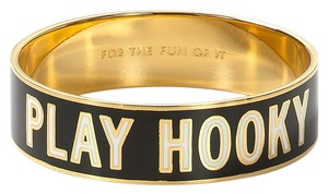 Kate Spade Subversively Inspired! Kate Spade Play Hooky Idiom Bangle NWT Perfectly Witty!