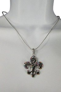 Women Silver Fashion Necklace Rodeo Horse Western Boots Multi Color Stones