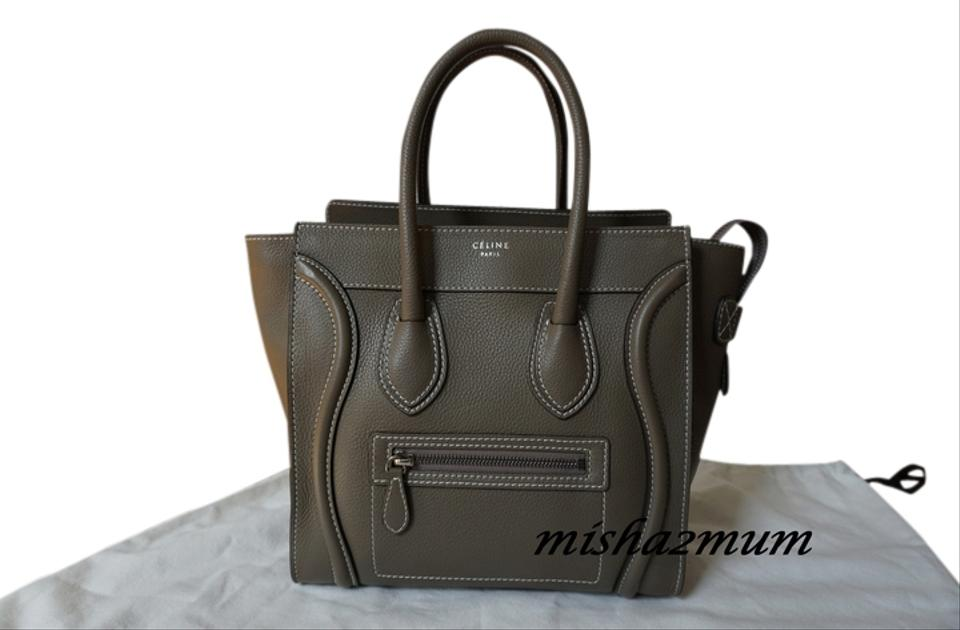 0fe386dec Céline Luggage Micro In Souris Taupe Grey Leather Satchel - Tradesy