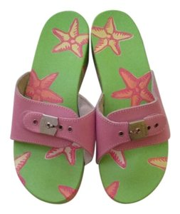 Dr. Scholl's Pink/ green Wedges