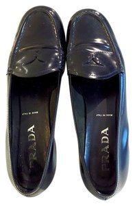 Prada Penny Loafers Black Flats