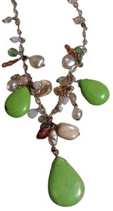 Other Vintage Green Glass Necklace